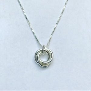 Jewelry - Sterling Silver Three Circle Infinity Necklace